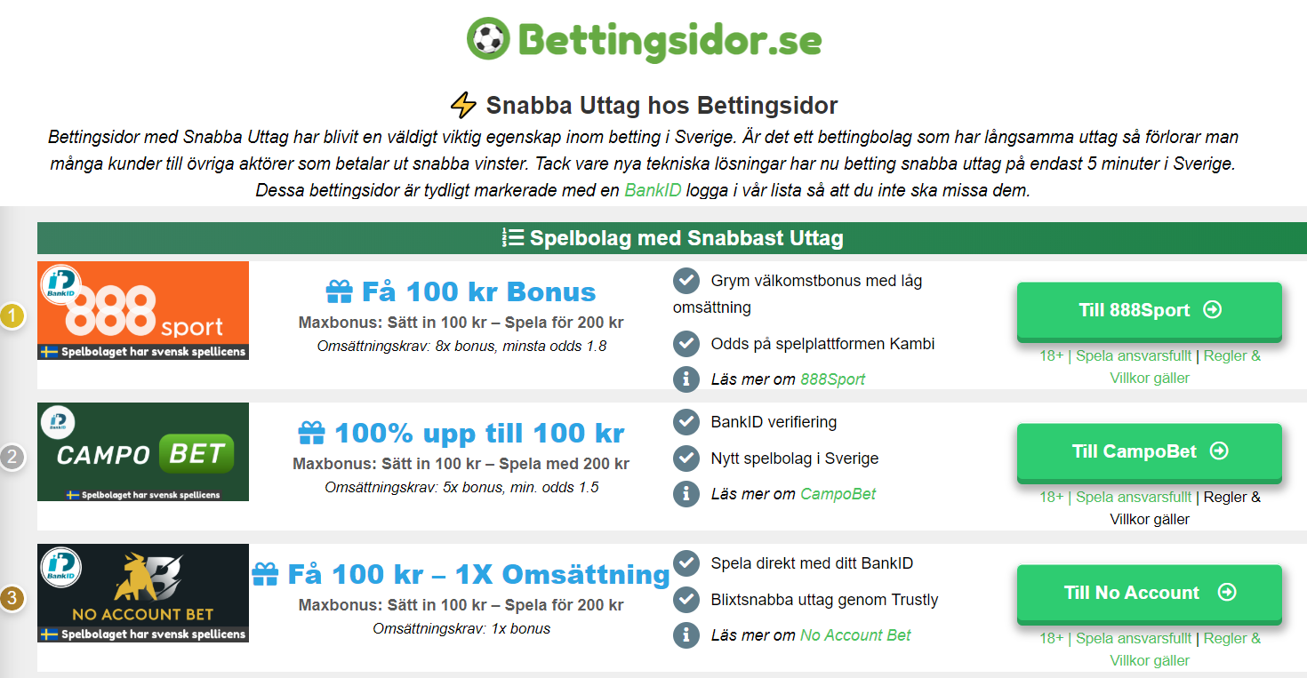 Betting med BankID 137788